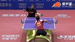 周雨VS朱霖峰 2016中国乒超联赛 男团第七轮第二场视频