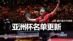 亚洲杯 | 松平健太冯天薇退出,张本智和获参赛资格