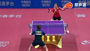 朱雨玲VS李佳原 2016中国乒超联赛 女团第七轮第二场视频