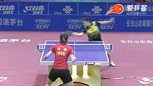 陈梦VS刘斐 2016中国乒超联赛 女团第七轮第二场视频