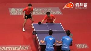 樊振东/于子洋VS林绍恒/吴柏男 2018匈牙利公开赛 男双第一轮视频