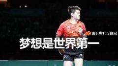 樊振东:梦想成为世界第一,希望能呆很长时间