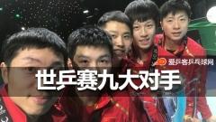 国乒正式宣布世乒赛9大对手!奥恰洛夫成最强敌