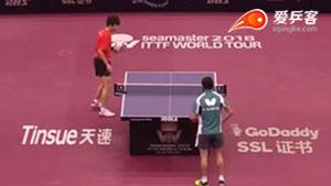 林高远VS诺沙德 2018卡塔尔乒乓球公开赛 男单1/16决赛视频