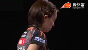 刘诗雯VS石川佳纯 卡塔尔乒乓球公开赛 女单半决赛视频