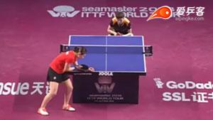 王曼昱VS陈梦 2018卡塔尔乒乓球公开赛 女单半决赛视频