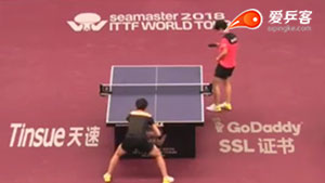 王曼昱VS孙颖莎 2018卡塔尔乒乓球公开赛 女单1/4决赛视频