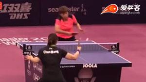 陈梦VS王艺迪 卡塔尔乒乓球公开赛 女单1/4决赛视频