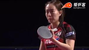 石川佳纯VS平野美宇 卡塔尔乒乓球公开赛 女单1/4决赛视频