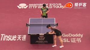 平野美宇VS早田希娜 卡塔尔乒乓球公开赛 女单1/8决赛视频