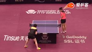 刘诗雯VS朱雨玲 2018卡塔尔乒乓球公开赛 女单1/16决赛视频