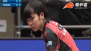 平野美宇VS杜凯琹 2018亚洲杯 女单五六名决赛视频