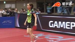石川佳纯VS杜凯琹 亚洲杯 女单1/4决赛视频