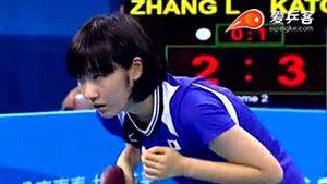 张安VS加藤美优 2014青奥会乒乓球赛 女单季军赛视频