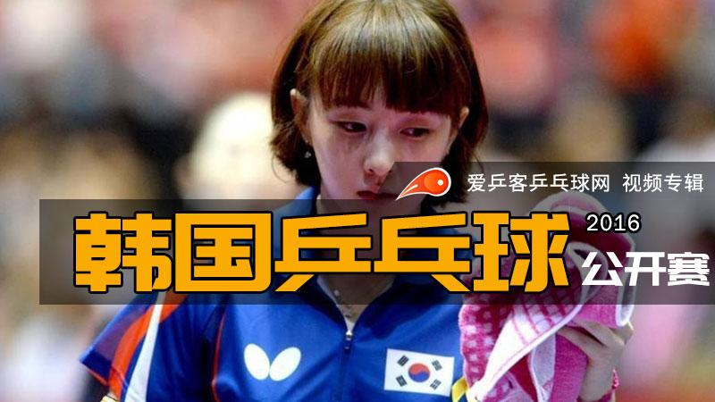 2016年韩国乒乓球公开赛