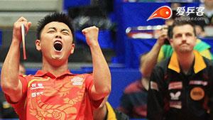王皓VS鲍姆 2012世乒赛 男团决赛第三场视频