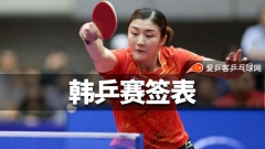 韩乒赛签表:奥恰陈梦领衔,国乒女单7人进正赛