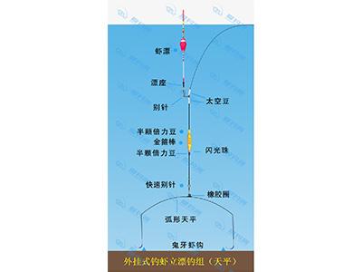 外挂式钓虾立漂钓组(天平)