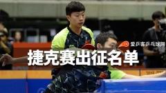 国乒捷克赛出征名单出炉!龙队、许昕背靠背带队争六冠