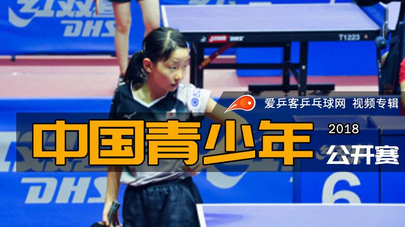 2018年中国乒乓球青少年公开赛