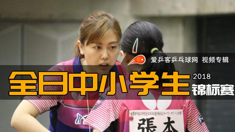 2018年日本全国中小学生乒乓球锦标赛