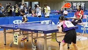 张本美和VS竹谷美涼 2018日本全国中小学生乒乓球锦标赛 女单决赛视频