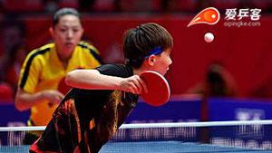 王曼昱VS于梦雨 亚运会乒乓球比赛 女单半决赛视频