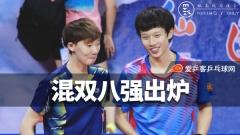乒球全锦赛混双八强出炉!林高远/王曼昱艰难晋级