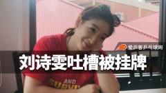 乒超标王刘诗雯吐槽被挂牌,规则难懂身价去向都不清楚