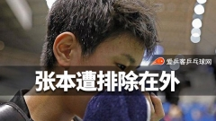 全运官方邀请华裔乒坛高手参赛,张本智和被排除在外,网友:活该