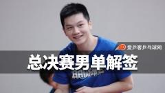 总决赛男单解签:樊振东遇张本,许昕进决赛机会大