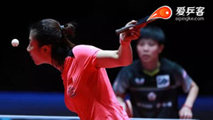 丁宁VS郑怡静 2018年终总决赛 女单1/4决赛三分6合视频