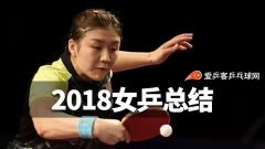 2018女乒总结:小将迅速成长!陈梦王曼昱改格局