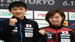日媒:张本石川或搭档混双 目标东京奥运冠军