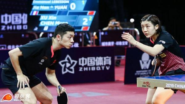 中乒赛混双1/8决赛|许昕/陈梦3-1法国组合