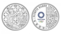 日本财务省发奥运纪念货币 乒乓球是纯银一千日元