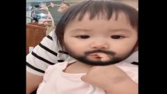 江宏杰用胡子滤镜拍女儿 网友:还好没被吓哭