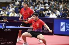 韩乒赛国乒两对女双晋级 樊振东许昕横扫法国组合