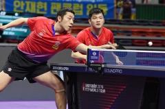韩乒赛樊振东/许昕3-0韩国一双夺冠