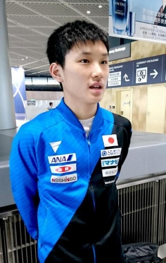张本智和:平常心对待比赛 发挥出自己的实力