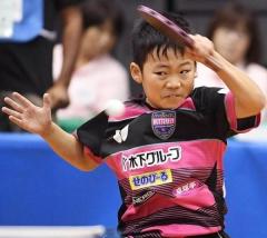 日本12岁小将晋级青少组四强 如夺冠将超越张本