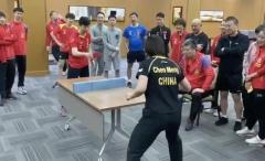 国乒教你居家打乒乓球 马龙:宅家别忘运动